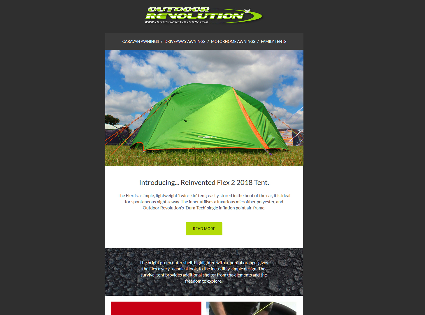 Outdoor Revolution Email Campaign