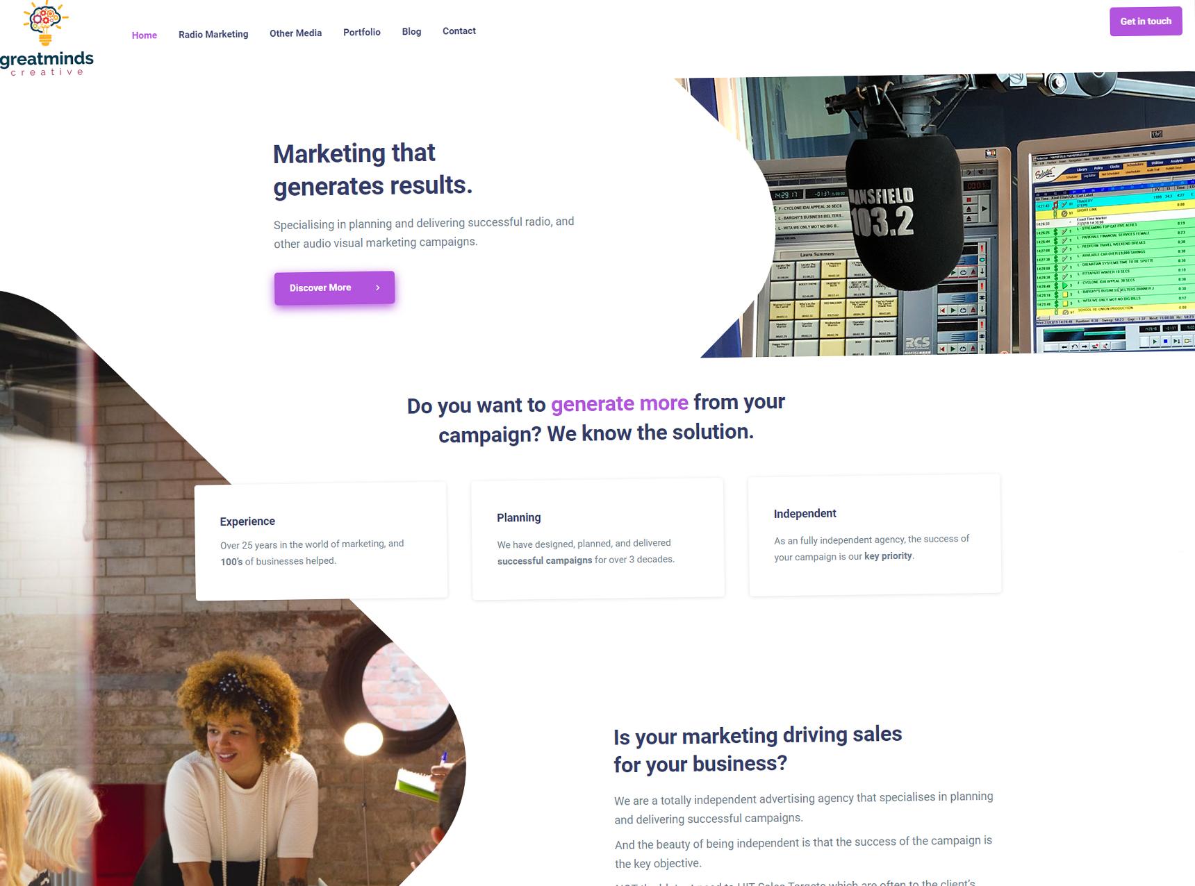 Great Minds Creative Website