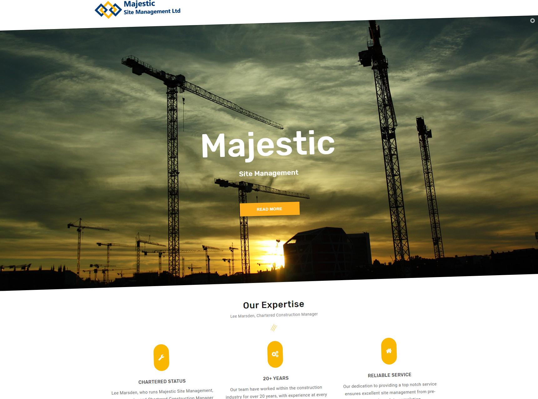 Majestic Site Management Website