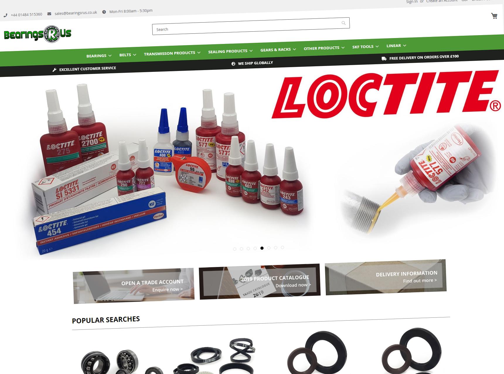 Bearings R Us Website