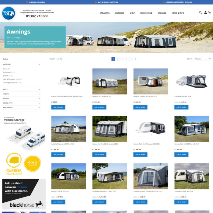Yorkshire Caravans Category Page