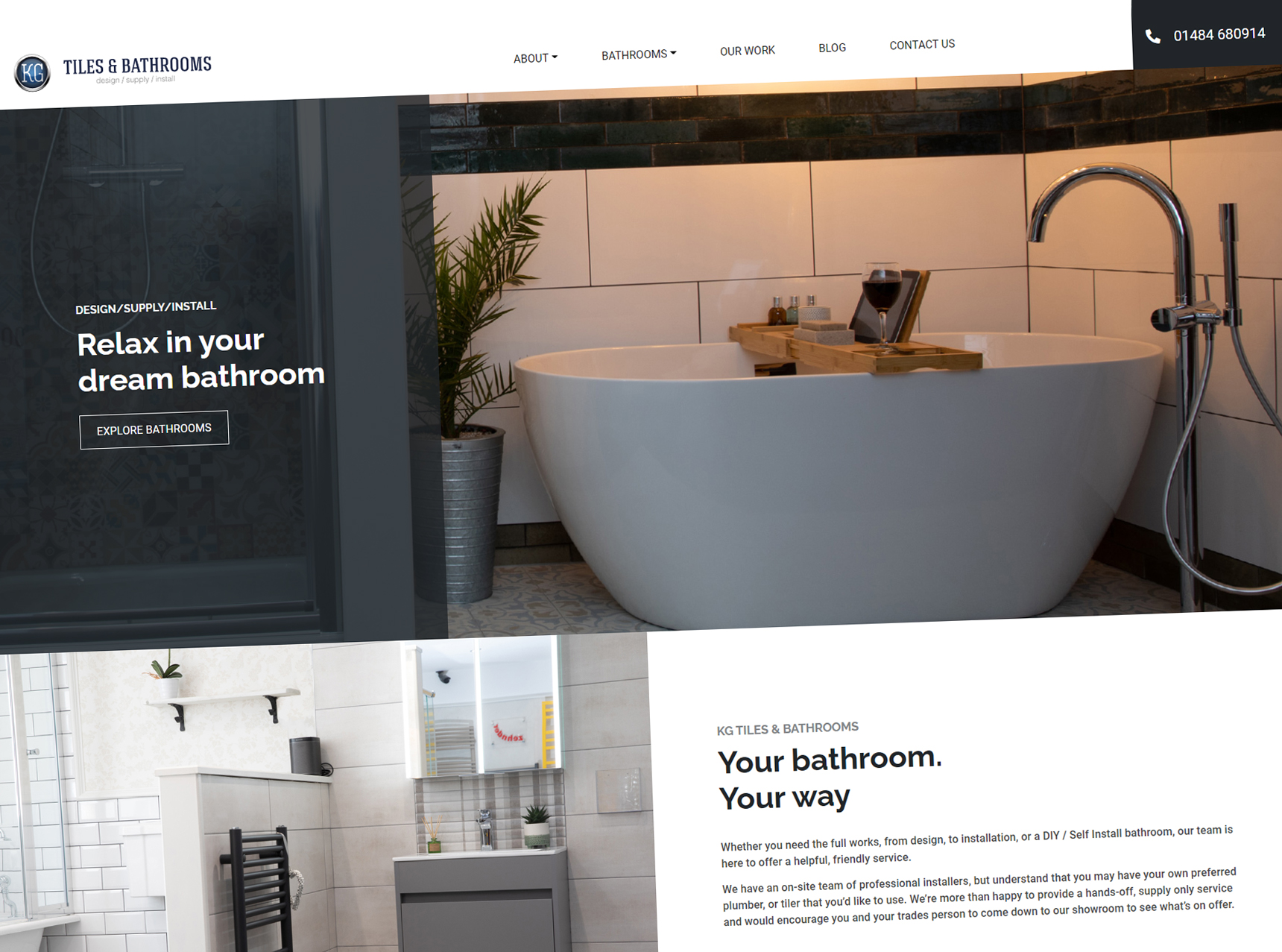 KG Bathrooms Website