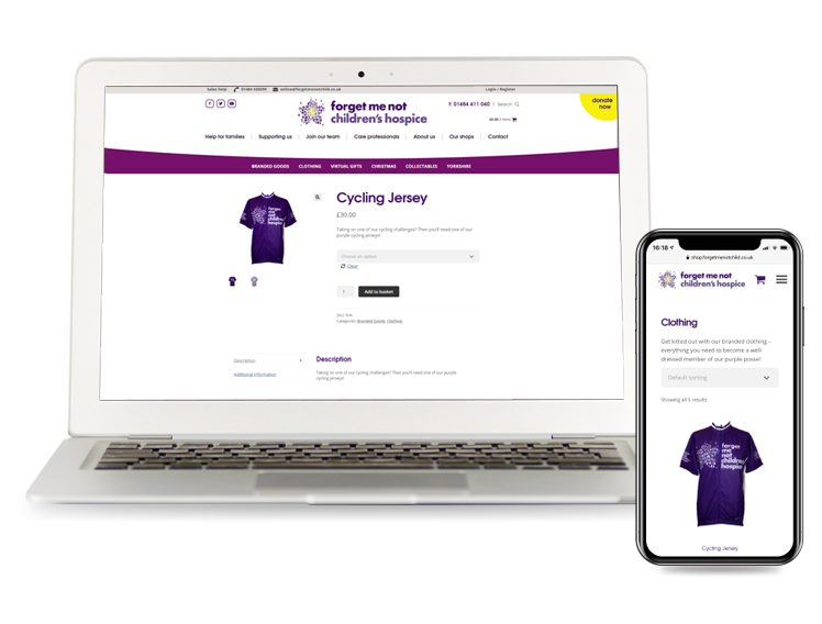 Charity WooCommerce Website