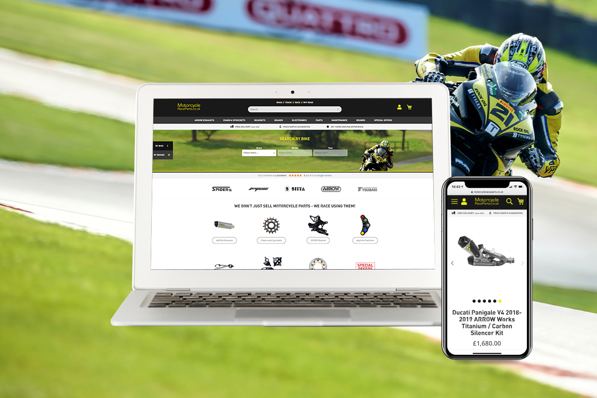 Motorcycle Race Parts Website