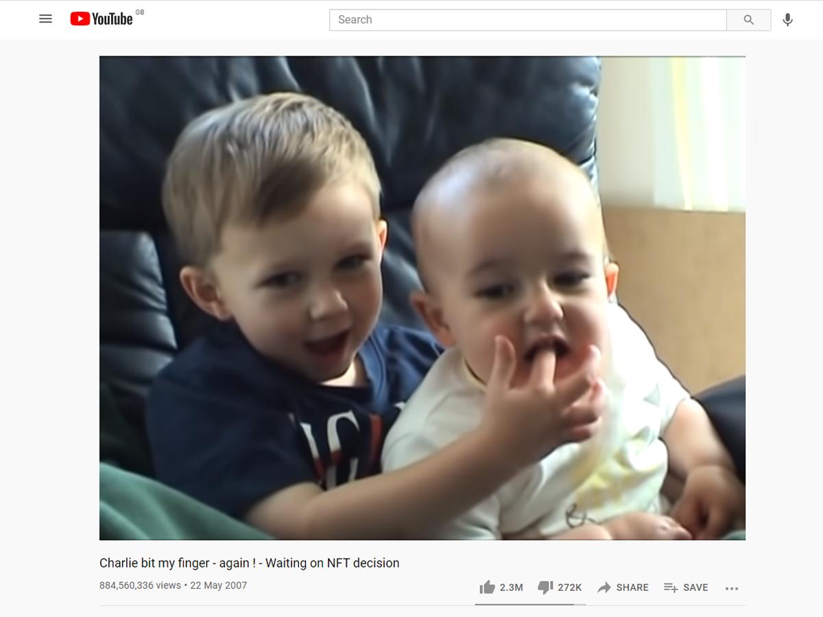 Charlie bit my finger YouTube video