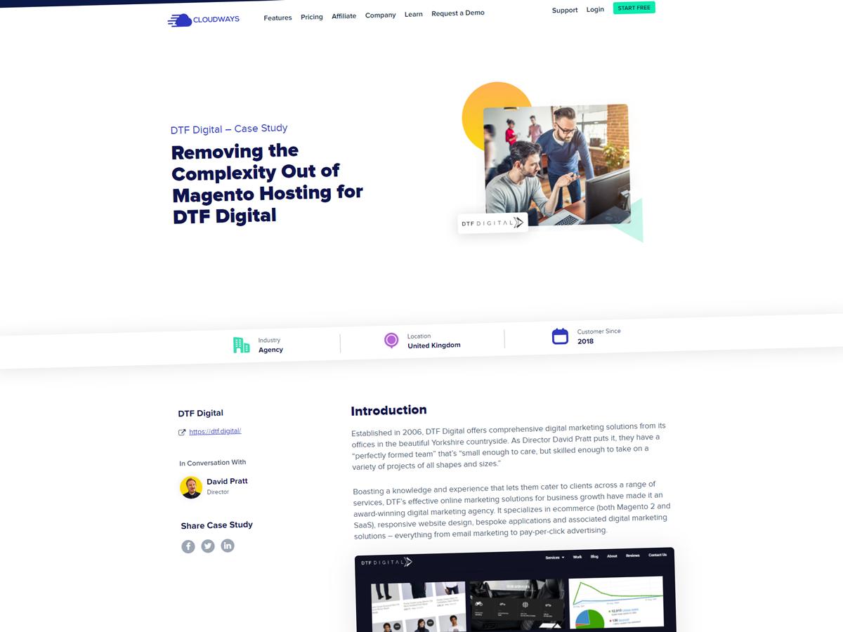 Cloudways interview DTF Digital