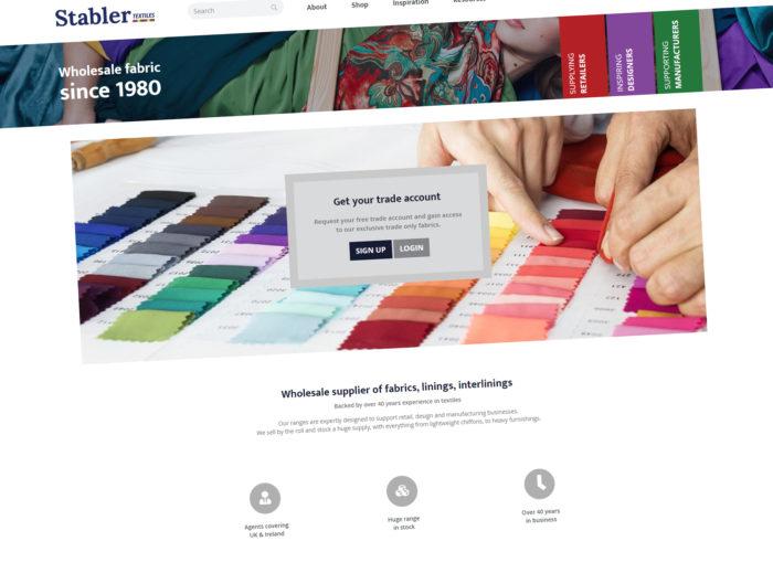 Stabler Textiles Website Homepage
