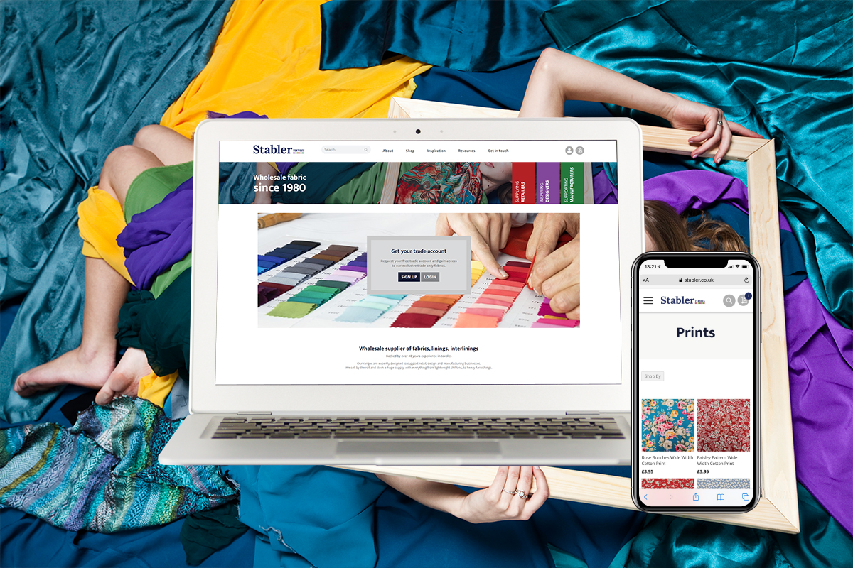 Stabler Textiles Website and Mobile